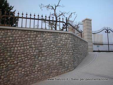 MURO IN CIOTTOLI DI FIUME - Salizzo de Cogoli - Sassi per pavimenti e ...