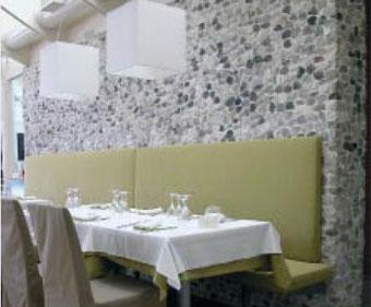 Utilizzi dei sassi negli interni salizzo d cogoli srl - Sassi decorativi per interni ...